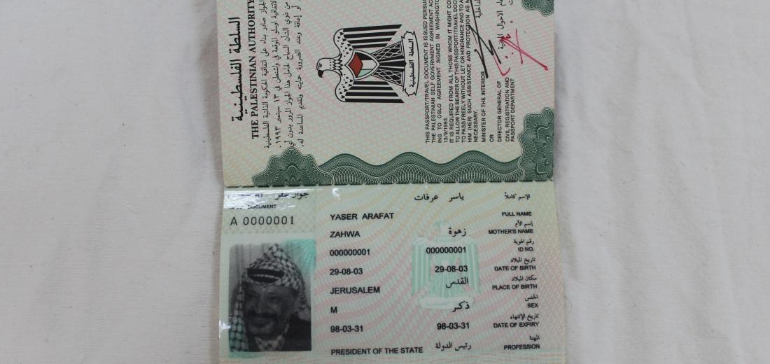 Yasser Arafat's Passport