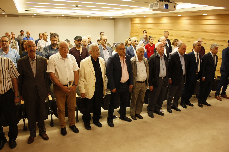 احياء الذكرى السنوية الأولى لرحيل الفنان الفلسطيني سمير سلامة في قاعة المنتدى